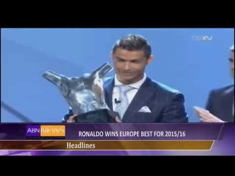 Christiano Ronaldo Wins Europe best for 2015/2016