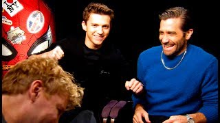 Jake Gyllenhaal gives Tom Holland a proper fright!