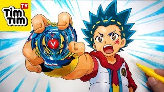 How to draw BEYBLADE BURST Valt Aoi with Genesis Valtryek V3 | Easy step-by-step Art for Kids