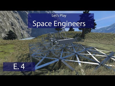 Space Engineers - Ep. 4 - Designing a Scout Ship and Rover! - Let's Play Survival