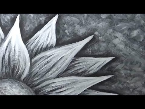 Painting a flower with black and white gesso or acrylic paint youtube painting a flower with black and white gesso or acrylic paint mightylinksfo