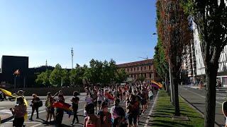 Manifestación en Pamplona por el Día del Orgullo LGTBI+