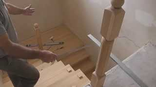 Монтаж деревянной лестницы (видео) своими руками: цена