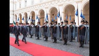 Il Presidente Conte riceve il Presidente della Repubblica d'Iraq a Palazzo Chigi