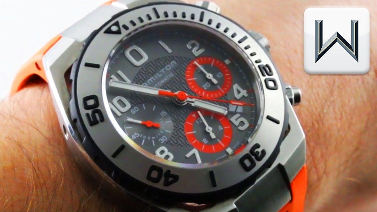 Hamilton Khaki Navy Sub Chronograph H 31 Caliber H78716983 Luxury Watch Review