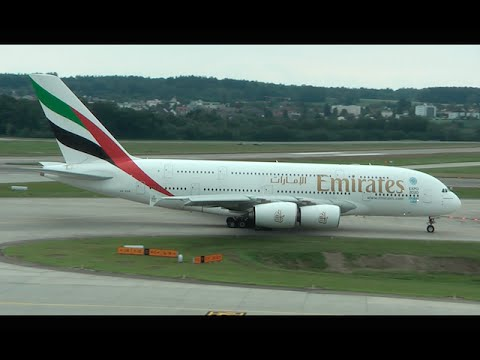 Emirates A380 at Zurich Airport - a short Movie Production
