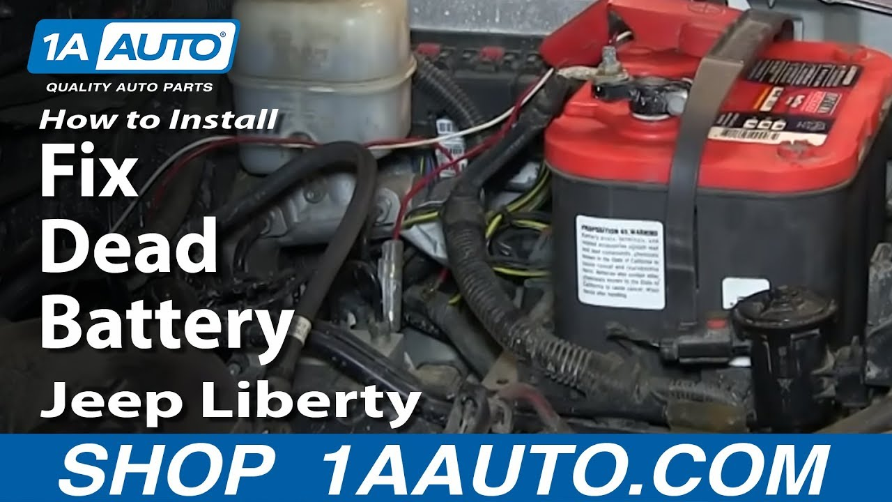 How To Install Replace Fix Dead Battery 2002 07 Jeep