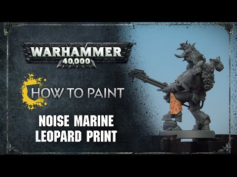 How to Paint: Noise Marine Leopard Print