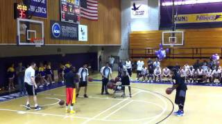 AND1 Streetball Kings vs. Hunter College Intramural Champions: 3 Point Shootout - Baby Shaq