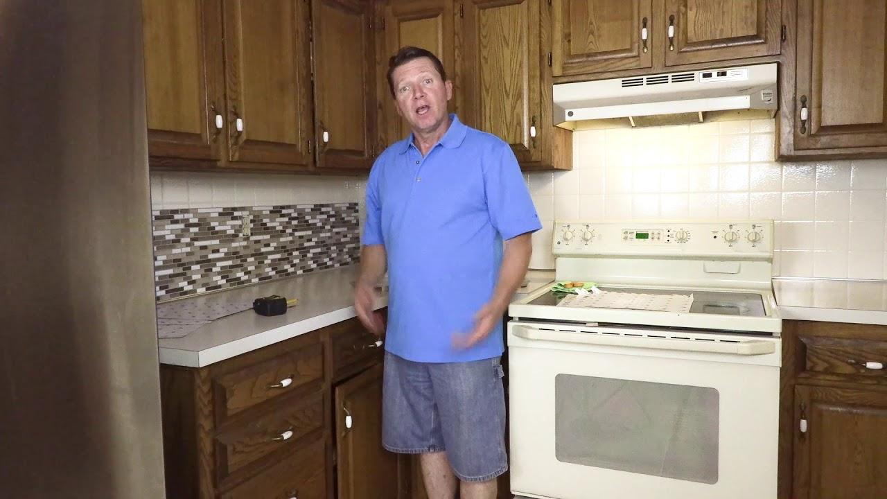 L And Stick Tile Kitchen Backsplash