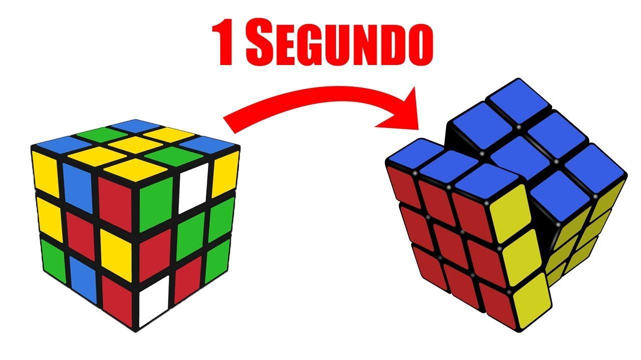 Cómo Armar Un Cubo De Rubik En 1 Segundo Speedcuber Perú Youtube