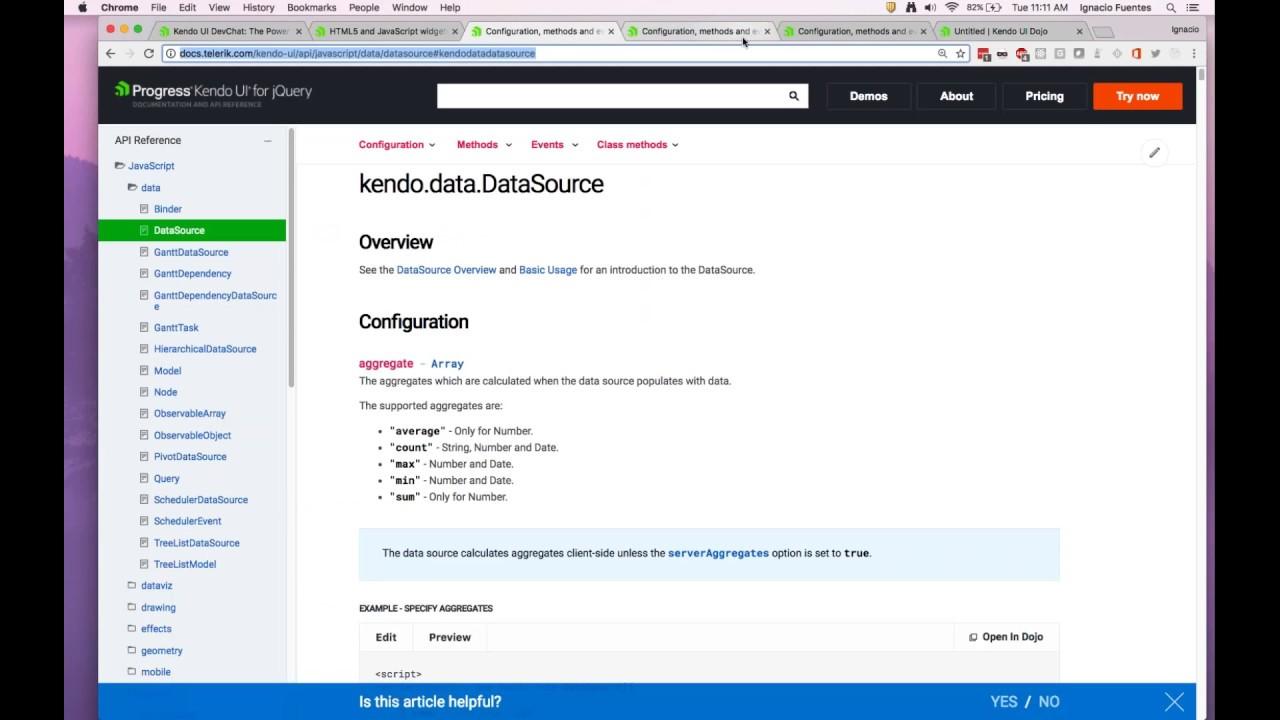Kendo UI DevChat: The Power of Sharing Kendo UI DataSources