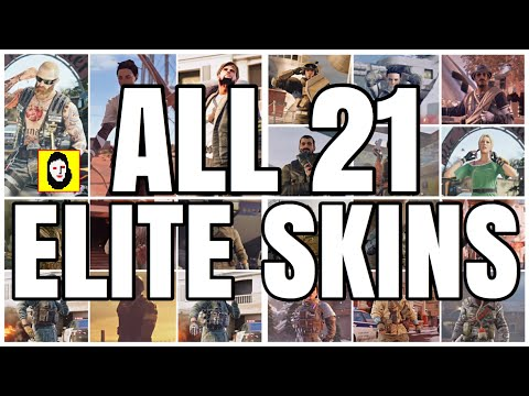 ALL 21 ELITE SKINS MVP ANIMATIONS - OFFICIAL RELEASED SKIN ONLY! Rainbow Six Siege - SLEDGE - BANDIT