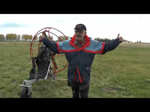 Paramotor backpack to trike