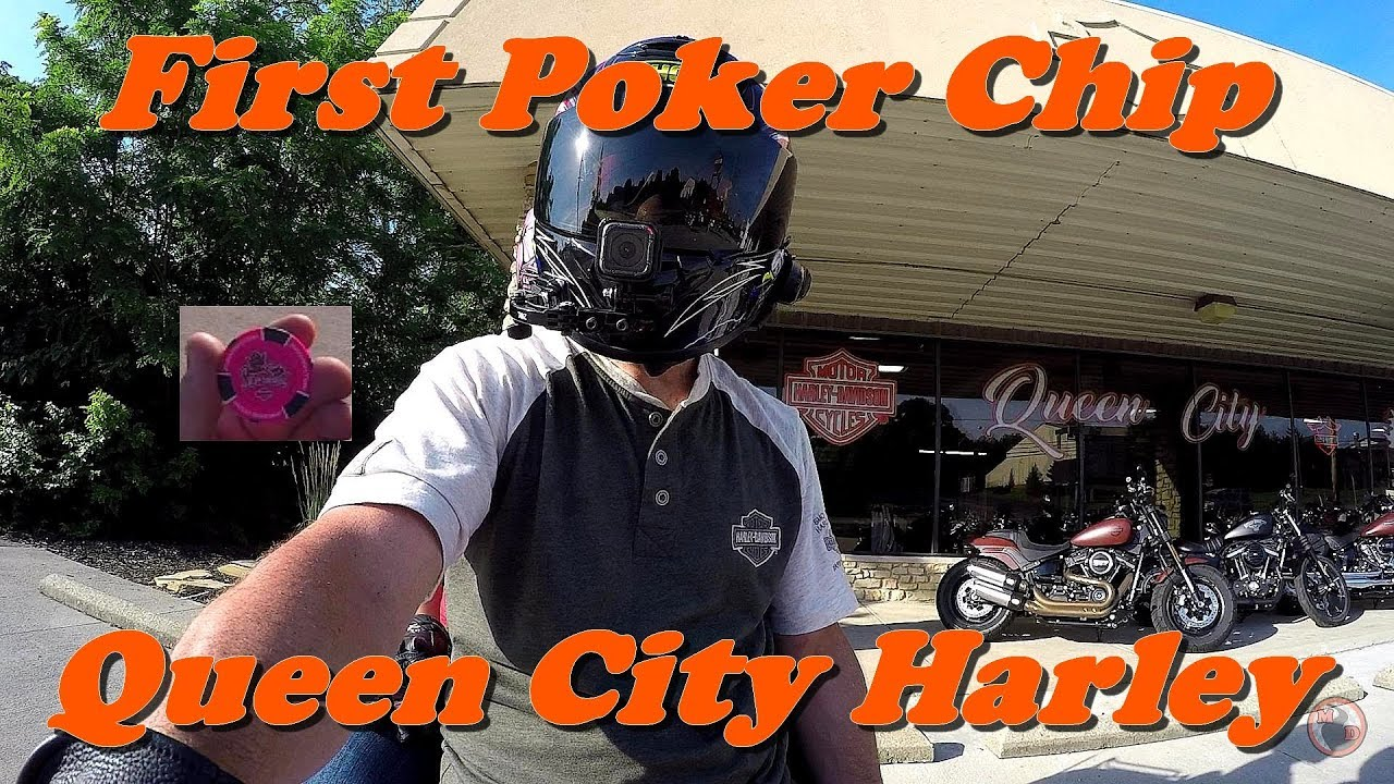 Poker Chip from Queen City Harley Davidson / Learning Biker Wave
