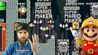 100 Mario Expert Challenge using only ONE Hand [SUPER MARIO MAKER]