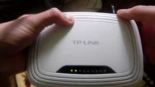 Як скинути налаштування роутера TP Link WR 740.How do I reset the router TP Link WR 740.