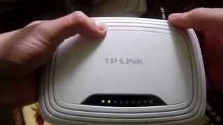 Как сбросить настройки роутера TP Link WR 740.How do I reset the router TP Link WR 740.
