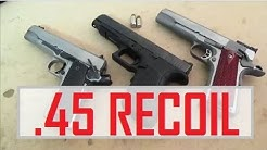 .45 ACP Recoil in Slow-Mo and Spring Tuning - 1911 and Glock 41 - IDPA CDP Guns