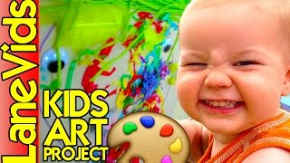 Art Projects For Kids | 🎨 STICKY FACES ART PROJECT 😜 | LaneVids