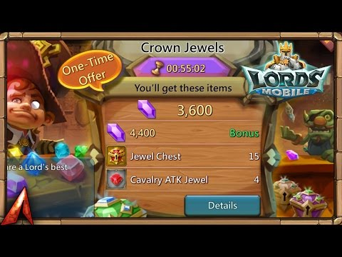 Lords Mobile Opening 110 Legendary Jewel Chests And More!