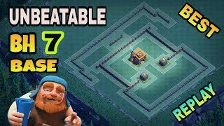 BUILDER HALL 7 (BH7) BEST BASE LAYOUT WITH REPLAY PROOF | COC BH7 TOP BASE DESIGN | CLASH OF CLANS