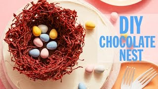 How to Make a Chocolate Nest Cake Topper | Food Network