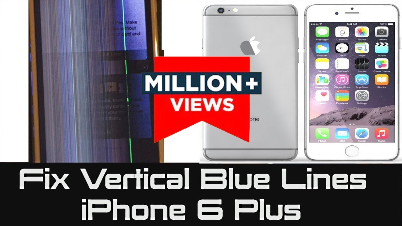 SOLVED - iPhone 6 Plus | How to Fix Vertical Blue Lines | Unresponsive  Screen not responding