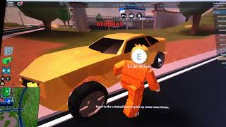 Playing jailbreak in Roblox /W/ Dribble3 and maddy lynx