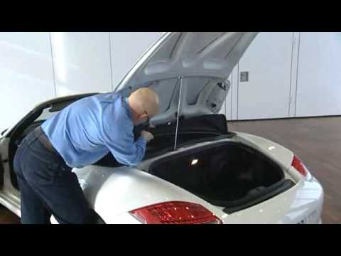 Porsche Boxster Spyder Soft Top Operation