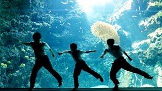中学生ダンサーが水族館で踊る