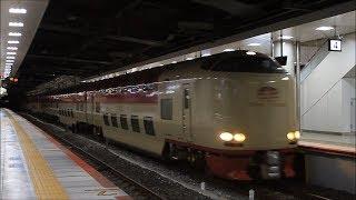 JR東海・西日本 285系 寝台特急 サンライズ瀬戸・出雲 新大阪駅 4番線 通過 Sunrise Seto Izumo Series 285
