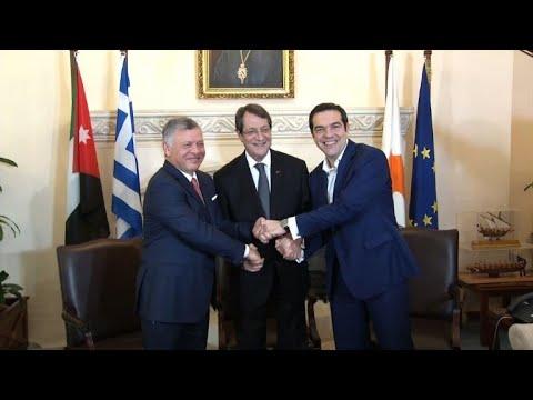قادة اليونان والاردن وقبرص يجتمعون في نيقوسيا