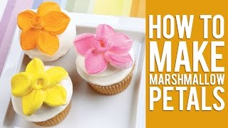 How to Make a Marshmallow Flower Cupcake Topper