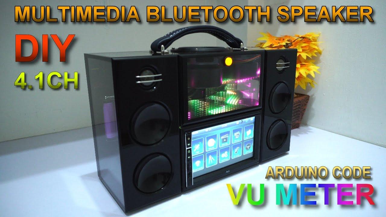 DIY MultiMedia Bluetooth Speaker 8.8ch  Arduino VU Meter  Acrylic