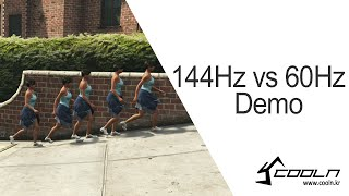 coolenjoy 144hz vs 60hz demo