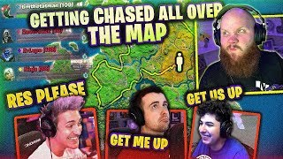 GETTING CHASED ALL OVER THE MAP!? - FT. DRLUPO, MONSTCR & NINJA