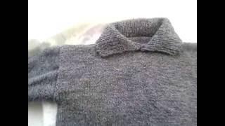 Мужской свитер.Вязание.Эксперимент окончен