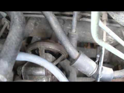 Daewoo Tico - pracujący (zaślepiony) zawór EGR na ciepłym silniku