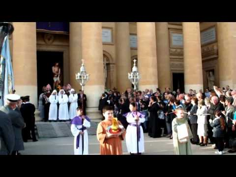 MALTA-Mosta: Good Friday Procession 2012 (part 1 of 2) - EXIT