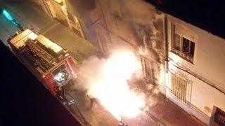 Incendio ciclomotor en Alcantarilla