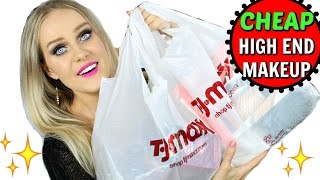 Video THE CHEAPEST HIGH END MAKEUP STORE IN THE WORLD - TJmaxx haul download MP3, 3GP, MP4, WEBM, AVI, FLV Januari 2018