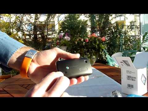 Sony Ericsson Txt Pro ausgepackt