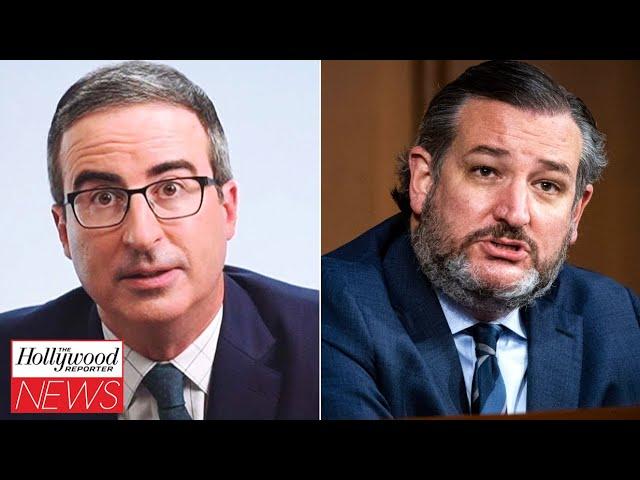 John Oliver Slams Ted Cruz For Cancun Vacation Amid Texas Winter Storm Crisis | THR News