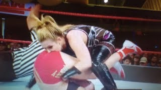 Natalya goes headfirst into Ronda Rousey's vagina and asshole on Raw