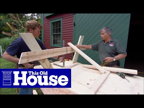 How to Build A Picnic Table - This Old House - YouTube