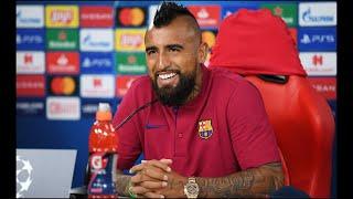 El futbolista chileno habló previo a los Cuartos de final de la Champions League entre el Barcelona y el Bayern