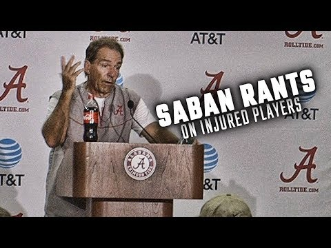 Nick Saban swears, and his important message is lost