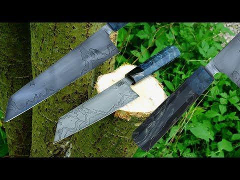 Knife making - Japanese style Damascus kitchen knife