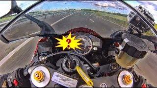 МОТОЦИКЛИСТКА ЕДЕТ 300 | Девушка на мотоцикле едет со скоростью 299км/ч.